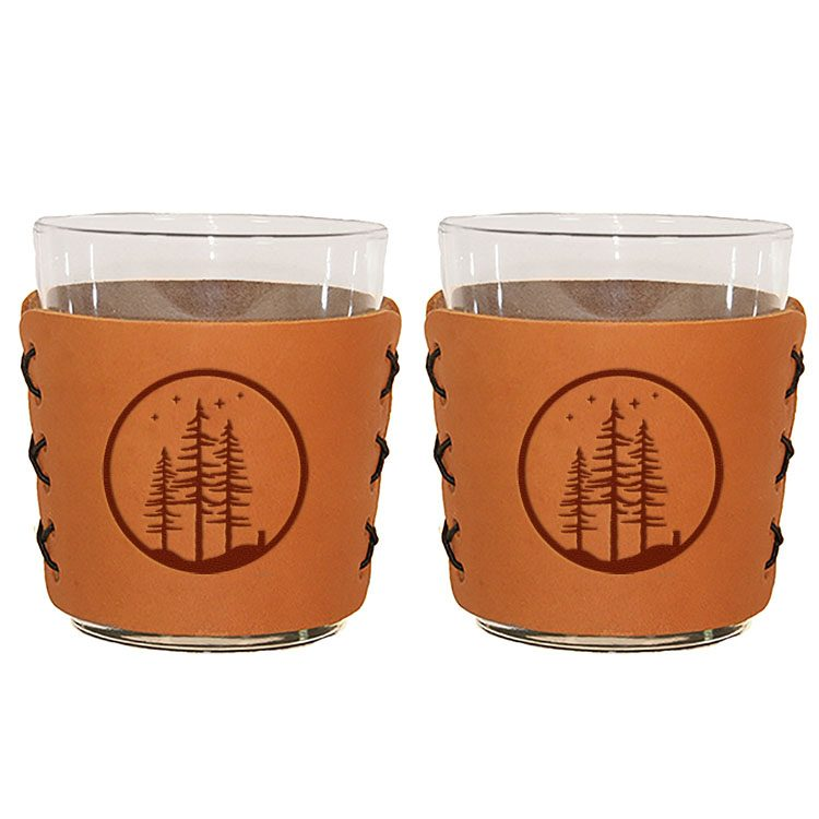 Highball Set of 2 with Glasses: Starry Trees