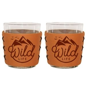 Highball Set of 2 with Glasses: Wild Life
