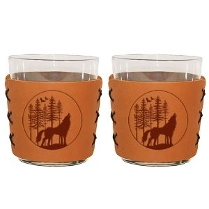 Highball Set of 2 with Glasses: Howling Wolf