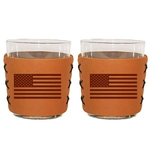 Highball Set of 2 with Glasses: American Flag