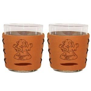 Highball Set of 2 with Glasses: Elephant Buddah