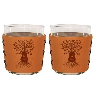 Highball Set of 2 with Glasses: Guitar Tree