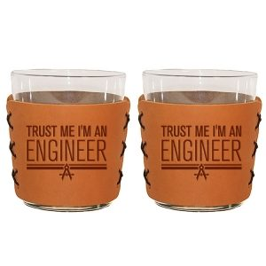 Highball Set of 2 with Glasses: Trust Me ... Engineer