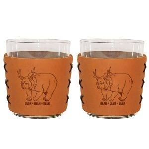 Highball Set of 2 with Glasses: Beer Bear