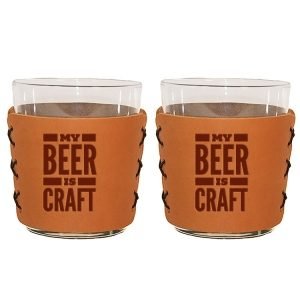 Highball Set of 2 with Glasses: My Beer is Craft