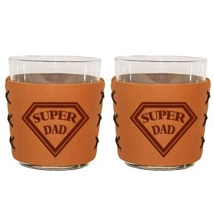 Highball Set of 2 with Glasses: Super Dad