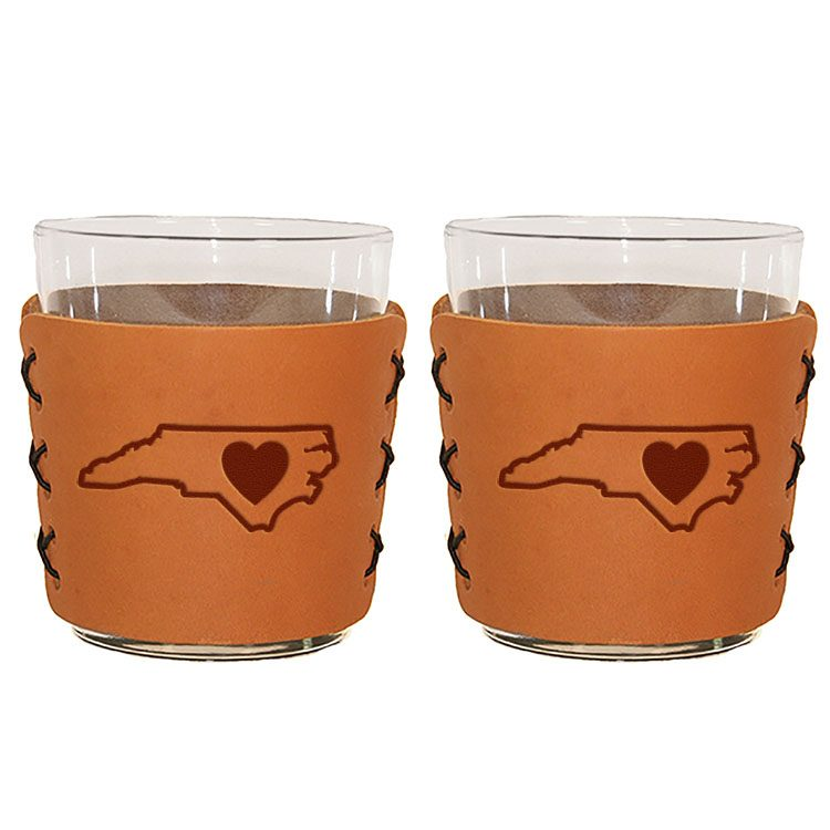 Highball Set of 2 with Glasses: NC Heart