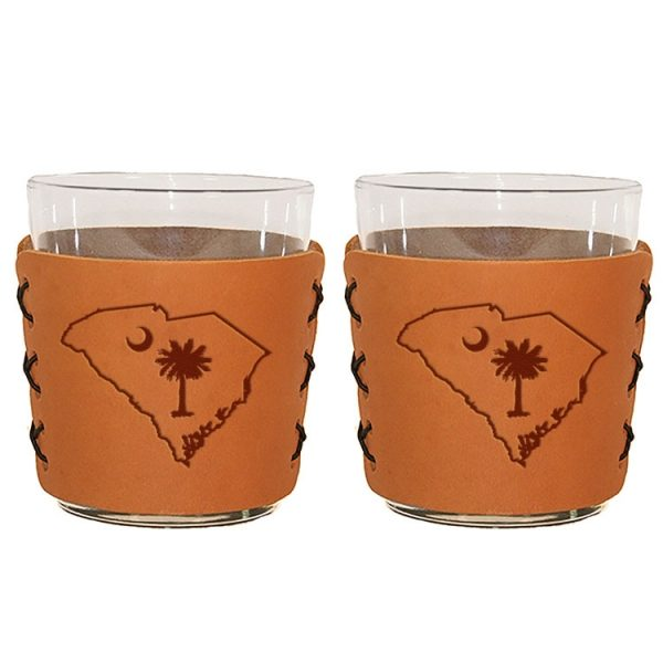 Highball Set of 2 with Glasses: SC Palmetto