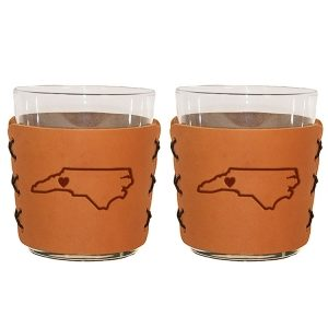 Highball Set of 2 with Glasses: WNC Heart