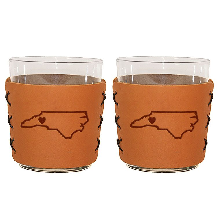 Highball Sleeve's Set of 2 with Glasses: WNC Heart