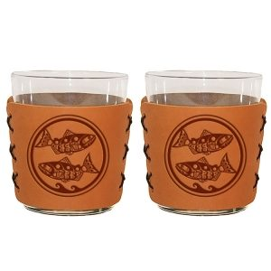 Highball Set of 2 with Glasses: Zen Fish / Pisces