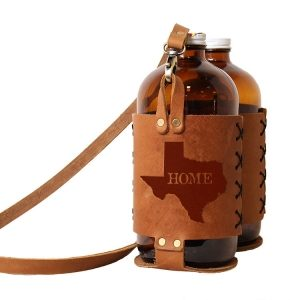 Double 32oz Growlette Tote with Strap: TX Home