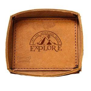 Leather Desk Tray: Explore