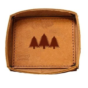 Leather Desk Tray: Pine Trees