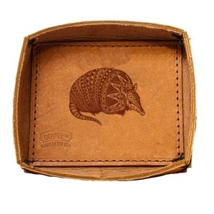 Leather Desk Tray: Armadillo