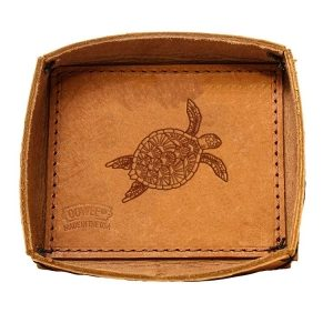 Leather Desk Tray: Sea Turtle