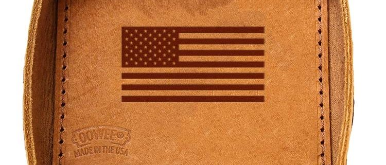 Leather Desk Tray: American Flag