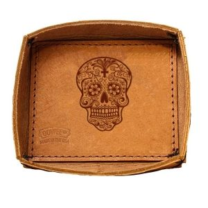 Leather Desk Tray: Candy Skull