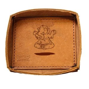 Leather Desk Tray: Elephant Buddah