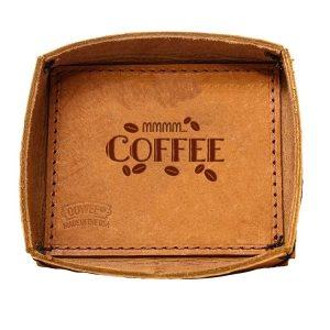 Leather Desk Tray: Mmm...Coffee