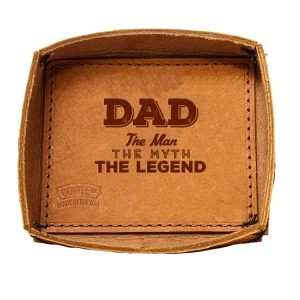 Leather Desk Tray: Dad - Man, Myth, Legend
