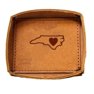 Leather Desk Tray: NC Heart