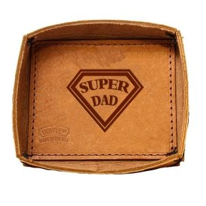 Leather Desk Tray: Super Dad