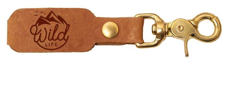 LOGO Leather Key Chain: Wild Life