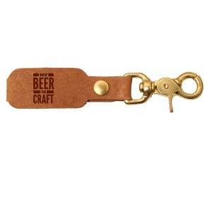 LOGO Leather Key Chain: My Beer is Craft