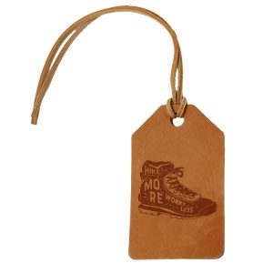 Simple Luggage Tag: Hike More, Worry Less