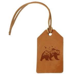 Simple Luggage Tag: Mountain Bear