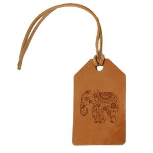 Simple Luggage Tag: Elephant Mandala