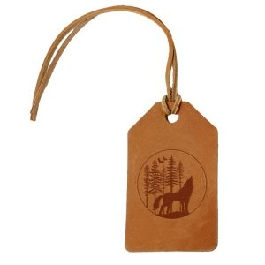 Simple Luggage Tag: Howling Wolf