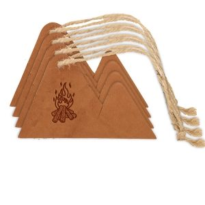 Mountain Ornament (Set of 4): Camp Fire