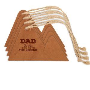 Mountain Ornament (Set of 4): Dad - Man, Myth, Legend