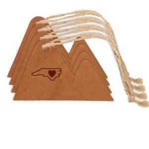 Mountain Ornament (Set of 4): NC Heart