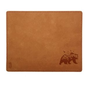 Mouse Pad with Decorative Stitch: Mountain Bear