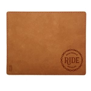 Mouse Pad with Decorative Stitch: Nice People Ride Bikes