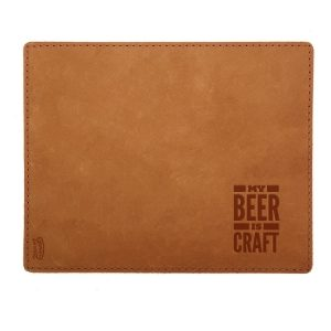 Mouse Pad with Decorative Stitch: My Beer is Craft