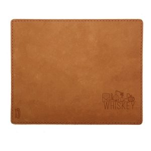 Mouse Pad with Decorative Stitch: Whiskey