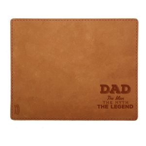 Mouse Pad with Decorative Stitch: Dad - Man, Myth, Legend