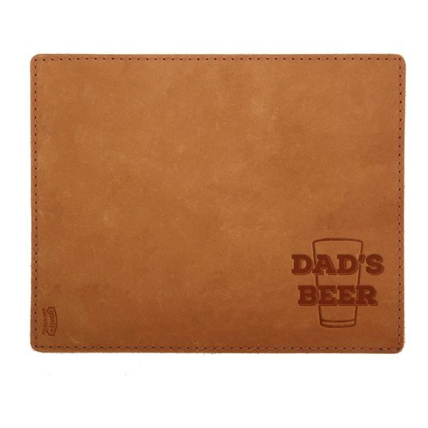 Mouse Pad with Decorative Stitch: Dad's Beer