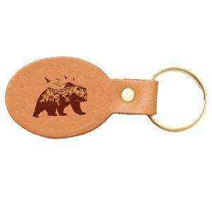 Oval Key Chain: Mountain Bear