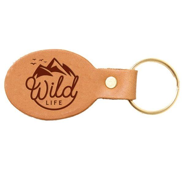 Oval Key Chain: Wild Life