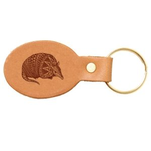 Oval Key Chain: Armadillo