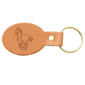 Oval Key Chain: Horse