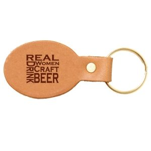 Oval Key Chain: Real Women...Beer