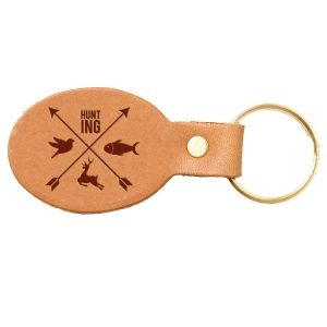Oval Key Chain: Hunting Cross