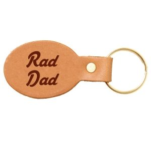Oval Key Chain: Rad Dad
