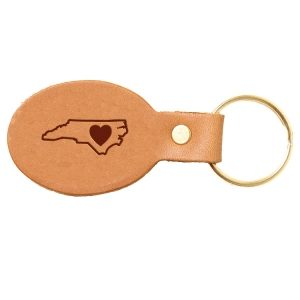 Oval Key Chain: NC Heart